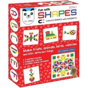 Play Panda Fun Magnetic Shapes Type 1 with 44 Magnetic Shapes 164 Pattern Book Magnetic Board and Display Stand