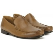 Clarks Claude Plain Tan Leather Slip On For Men(Tan)