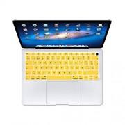 TOIT Protector de teclado español de la UE para MacBook Air 13 de 13,3 pulgadas A1932 2019 2018 Touch Id-Amarillo-