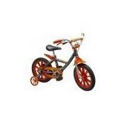 Bicicleta Infantil First Pro Masculina Aro 14 Alumínio - Nathor - Laranja/Preta