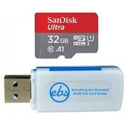SanDisk Tarjeta de memoria Ultra Micro SDHC de 32 GB, clase 10, funciona con Samsung Galaxy Tab 4, Tab 3, Tab Active, Tab Pro Tablet y almacenamiento de teléfono Plus (1) Everything But Stromboli (TM) TF, lector de tarjetas SD