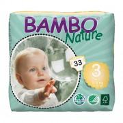 BAMBO NATURE 3 Midi - 5 à 9 kg - 33 langes