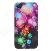 Kinston Dazzle color burbujas patron mate PC duro caso para IPHONE 4 / 4S - Negro + Deep Pink