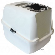 Arenero cubierto Catit White Tiger para gatos - Filtro de recambio adicional: 2 x 2 unidades