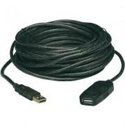 USB 2.0 hosszabbító kábel 20m fekete (986361)
