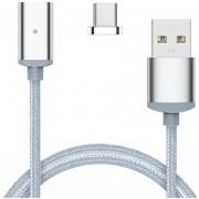 Louiwill Cable De Carga USB Tipo C Magnético, Cable De Carga De Nylon Trenzado Con Luz Indicadora LED Para LG G5 V20, Google Pixel, Nexus 6P 5X, HTC 10 Y Más