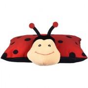 Ultra Folding Pillow Bashful Lady Bug 18x13 Inches - Red