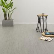 vidaXL Самозалепващи подови дъски, 4,46 м², 3 мм, PVC, измит дъб