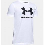 Under Armour Boys' UA Sportstyle Logo Short Sleeve White YSM