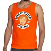 Bellatio Decorations Oranje Sons of Willem tanktop / mouwloos shirt heren