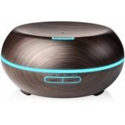Umidificator Optimus AT Home TM 1721 cu ultrasunete aromaterapie 20-25m purificator aer difuzor rezervor 200ml dark wood