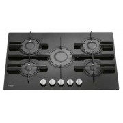 Ariston Hotpoint Ariston FTGHG 751 D/HA(BK)LPG - FTGHG751D/HA(BK)LPG Piano Cottura 75cm 5 Fuochi Direct Flame Vetro Nero