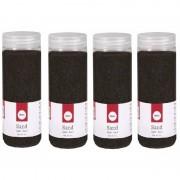 Rayher hobby materialen Fijn decoratie zand zwart 1900 ml