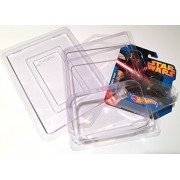 Hot Wheels STAR WARS Car PROTECTIVE CASES Set of 12 Clear die-cast car keepers Blister Pack Covers protectors