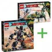 Комплект конструктори ЛЕГО Нинджаго Филмът - Робота на Гарматрон 70613 + Робо-драконът на зеления нинджа 70612, LEGO NINJAGO