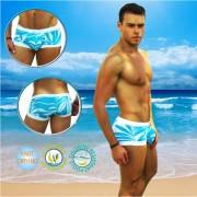 Icker Sea Blue Waves Cachetero Square Cut Trunk Swimwear COB-14-BW04