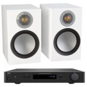 Pachete PROMO STEREO - Monitor Audio - Silver 50 + NAD C 338 Walnut