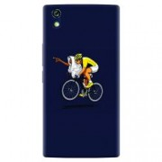 Husa silicon pentru Allview X2 Soul Style ET Riding Bike Funny Illustration