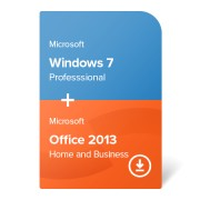 Microsoft Windows 7 Professional + Microsoft Office 2013 Home and Business (W7-O13-ESD) електронен сертификат
