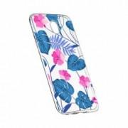 Husa Silicon Transparent Slim Tropical Blue 112 Motorola MOTO G6 PLUS