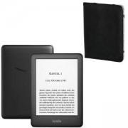 Електронен четец NEW Kindle 2019, Черен, 4GB, подсветка на екрана, with special offers + Калъф HAMA Piscine за eBook четец, 6 инча, HAMA-173568
