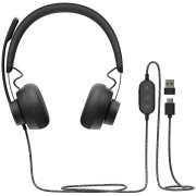 HEADPHONES, LOGITECH Zone, Microphone, Graphite (981-000875)