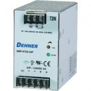 Kalapsín tápegység 72W 12V 6A, Dehner DRP-072D-12FTN (510887)