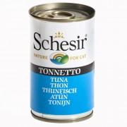 6х140г Schesir, консервирана храна за котки - риба тон с говеждо филе в желе