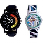 Race Speed And Sky Blue Sep Leather Strap Analogue Watch By Taj Avenue
