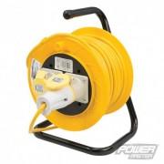 PowerMaster Prodlužovací kabel na bubnu, 110 V - 2 zásuvky - 16A 25m 868878 5024763030178