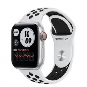 Apple Watch Nike Series 6 GPS + Cellular 40mm Alumínio Prateado Bracelete Nike Sport Platina Puro/Preto