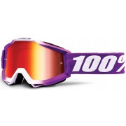 100% Accuri Extra Framboise Óculos de motocross Branco Roxo único tamanho