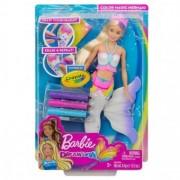 Barbie sirena Crayola colorabila GCG67