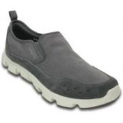 Crocs Duet Sort Stretch Canvas Slip on Sneakers For Men(Grey)