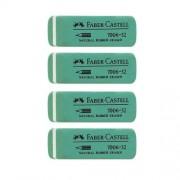 Faber-Castell Conf. 4 Gomme 7006-32 Verdi Per Cancellare Matita