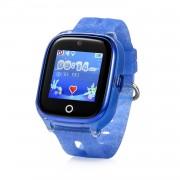 Ceas inteligent pentru copii KT01 Albastru rezistent la apa cu telefon camera foto GPS touchscreen monitorizare spion