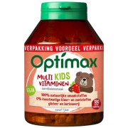 Optimax Multi kids vitaminen aardbei 180 kauwtabletten
