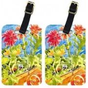 Caroline's Treasures 6038BT Flower - Gerber Daisies Luggage Tag(Multicolor)