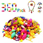 360 Pieces Pop Beads Set Snap Bead - DIY Jewelry Kit for Girls by GoodtoU Necklace and Bracelet Art Crafts Gifts Toys Creative Art Toy
