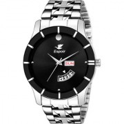 Espoir Analog Stainless Steel Day and Date Black Dial Men's Watch - BlackBahuMovado