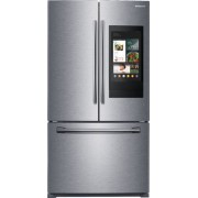 Samsung - 25.1 Cu. Ft. French Door Refrigerator with Family Hub - Stainless steel