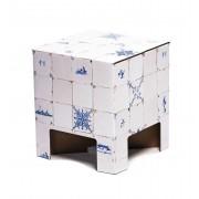 Dutch Design Brand kartonnen krukje - Tegeltjes - Dutch Tiles