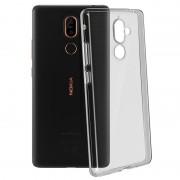 Avizar Funda de Silicona Flexible Transparente para Nokia 7 Plus