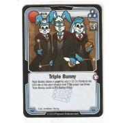 Killer Bunnies Promo Card: Odyssey Promo Cards: Triple Bunny Blue #Ab61 By Killer Bunnies