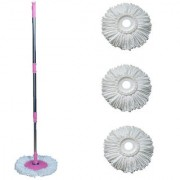 Universal Home Cleaning Spin mop-pink With 4 Refill
