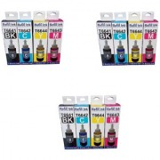 PRODOT COMPATIBLE INK FOR EPSON L100/L210/L200/L360 PRINTERS 3 SETS OF EACH COLOR 70ML BOTTLE