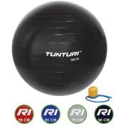 Tunturi Fitnessbal - Gymball - Swiss ball - Ø 90 cm - Inclusief pomp - Zwart