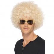 Geen Blonde afro pruik synthetisch voor heren