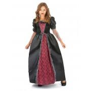 Vegaoo.es Disfraz vampiro rojo y negro elegante niña - L 10-12 años (130-140 cm)
