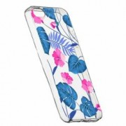 Husa Silicon Transparent Slim Tropical Blue 112 Apple iPhone 5 5S SE